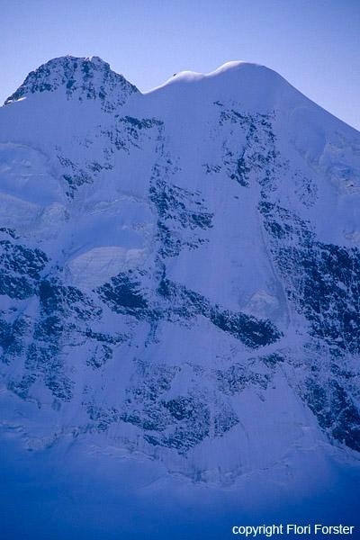 Andi Riesner und Dominik Kocholl in der Piz Roseg Nordostwand