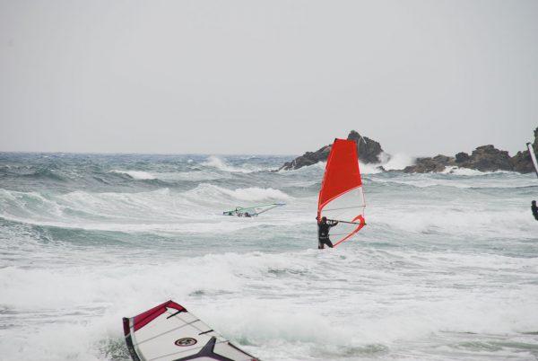 Dr. Kocholl in Südsardinien - Windsurfing