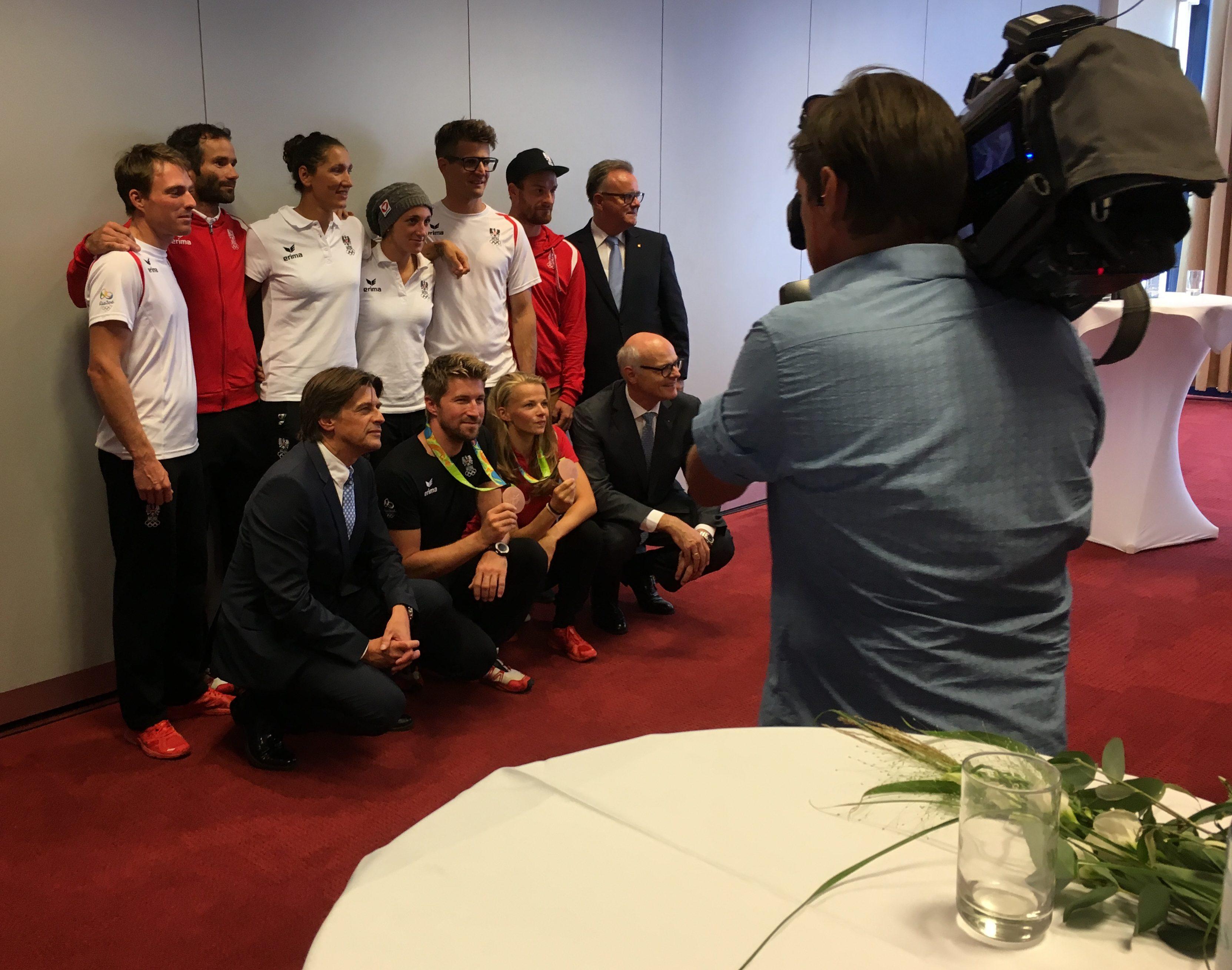 Empfang Medaillengewinner Olympische Sommerspiele 2016