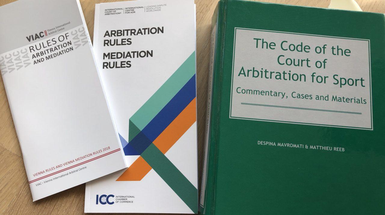 Arbitral Rules - Schiedsordnungen ICC VIAC CAS